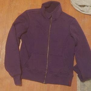 A Power Room Purple Zip-up Hoody no hood
